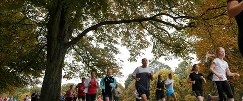Runners at ParkRun event