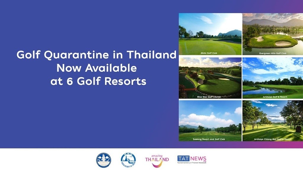 Golf quarantine in Thailand